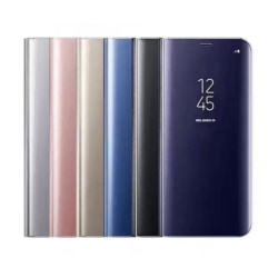 Samsung NOTE 10 Fodral / Flip Cover - Clear View  svart