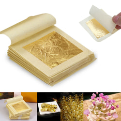 100 pcs Gold Foil Leaf Gilding Handicrafts Craft Paper Decorati 100pcs