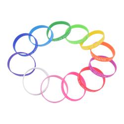 10st 12 färg Covid-19 silikonarmband för vaccination Identi