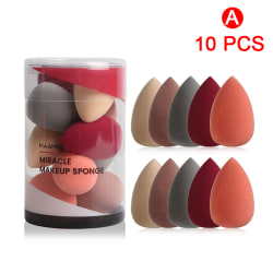 10Pcs Sponge Puff Foundation Makeup Powder Smooth Cosmetic Beau A
