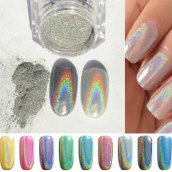 1g Holographic Holo Chrome Glitter Powder Dust 3D Nail Art Deco