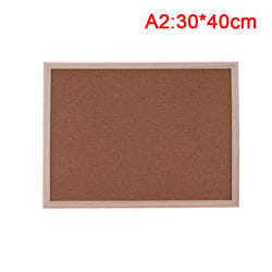 1pc Cork Board Drawing Board Pine Wood Frame White Boards Home  30*40cm
