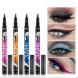 1pc Professional Waterproof Liquid Eyeliner Pencil 36H Black Lo Blue