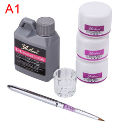 1set Acrylic Liquid Clear Pink White Carving Crystal Polymer 3D A1