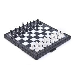 1set Mini International Chessboa med vikbar magnetisk plast