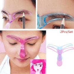 2 Pcs Eyebrow Shaper Makeup Template Eyebrow Grooming Shaping S Blue