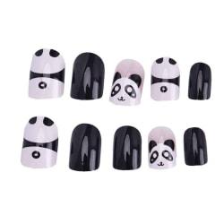 2020 Hot Beautiful False Nails Kids press on Cute Panda Chic Sh