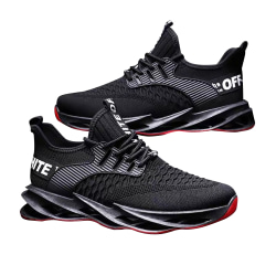 2021 New Men Light Tennis Shoes  Brand Shockproof Sneakers Comf Red 41