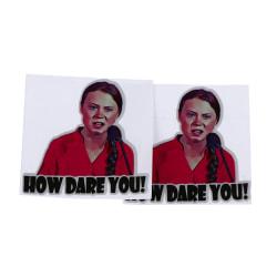 2st 8 * 8cm Hur vågar du dig Greta Thunberg Vinyl Dekal Sticker Windo