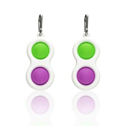 2pcs Fidget Dimple Toy Purple-Green*2