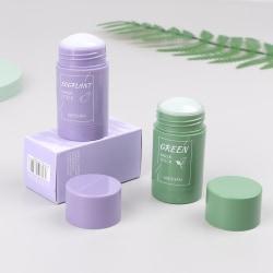2pcs green tea eggplant oil control clean moisturizing solid sm