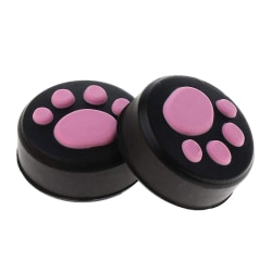 2X Paws Thumb Stick Grip Joystick Cap Cover Protective For NS NX Pink