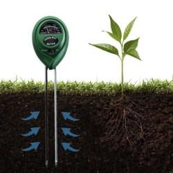 3 i 1 ph-testare mätvattenfuktljusmätare för trädgård