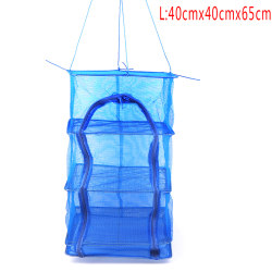 4 Layers Drying Fishing Net Rack Hanging Vegetable Fish Dishes  L