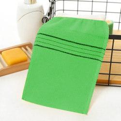 4pcsDouble-sided Towel Korean Exfoliating Bath Washcloth Body Sc Green