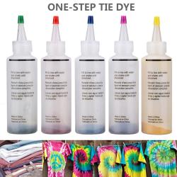 5 flaskor / set Tie Dye Kit DIYGarment Graffiti Fabric Textile Ti