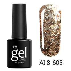 8Ml Glitter Gel Soak Off Uv Gel Polish Shiny Diamond Varnish Ge AI 8-605