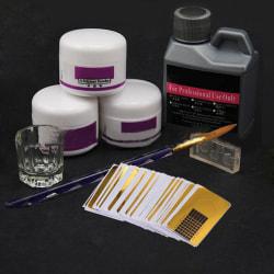 8X Nail Art Kit Acrylic Liquid Powder Pen Manicure Brush & Glas A
