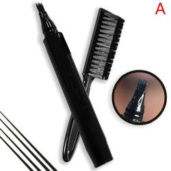 Beard Pen Beard Filler Pencil And Brush Beard Enhancer Waterpro Black