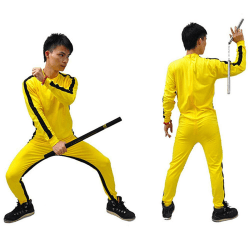 Bruce Lee Rompers for Kid Adult Wu Shu Clothing Costume for Men 140mm
