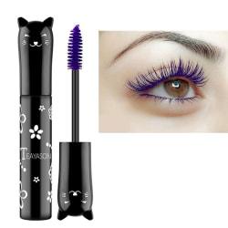 Color Waterproof Mascara Quick Dry Eyelashes Curling Lengthenin Purple