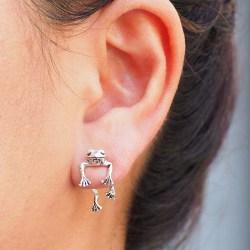söta grodörhängen för kvinnor flickor djur örhängen piercing ONE  SIZE