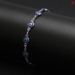 Evil Eye Lucky Eye Bead Chain Armband för kvinnor Smycken Charms D