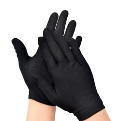 Fashion Spandex Gloves Black Etiquette Thin Short Stretch Dressy M Thin