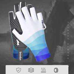 Fishing Gloves Sun UV Protection Non-slip Quick-drying Ice Silk  Gray L