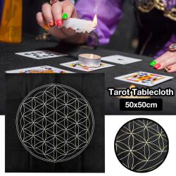 Flower of Life Tarot Card Duk Velvet Divination Altar Ast