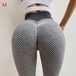 Grid Tights Yoga Pants Women Seamless High Waist Leggings Breat