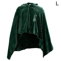 Hög kvalitet Attack on Titan Blanket Cloak Cape Flannel Cosplay L