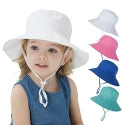 Barn Bucket Hat Sommarkeps för pojkar Flickor Vårhöstresor B