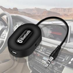 Mini 3,5 mm bil A2DP trådlös Bluetooth bilmonteringssats AUX Audio Music R