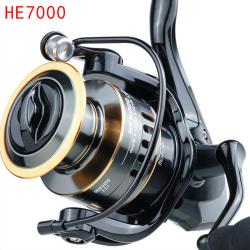 New 5.2:1 High Speed Metal Spool Spinning Fishing Reel HE1000-7 7000 Series