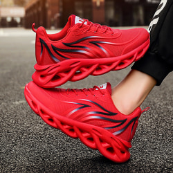 New Men''s Breathable Running Shoes Comfortable Sneakers Mesh S Red US6.5/EU39