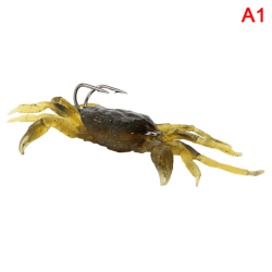 New Silicone Road Bait 3D Simulation Crab Bait With Hook Sea Fi A1