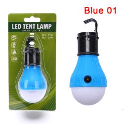 Bärbar camping utomhus hängande 3 LED camping tält glödlampa