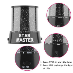 Romantic Amazing LED Starry Night Sky Projector Lamp Star light