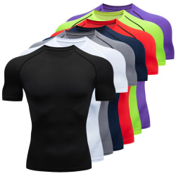 Short sleeve quick drying sports breathable sweat absorbing T-s grey XXXL