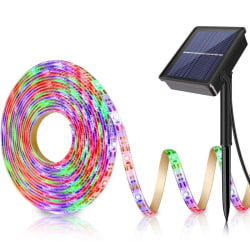 Solar Powered 5M 150LED Strip Light Lighting Waterproof LED Str Multicolor