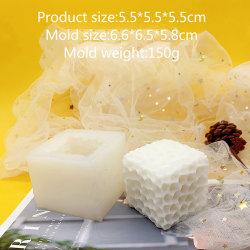 Fyrkantigt honungskakamönster Ljusform Cylindriskt doftljus