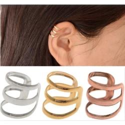 Unisex mode Punk Rock Ear Clip Manschett Wrap Ingen Piercing-Clip On Silver
