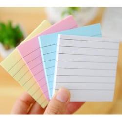 1 PC Square Soild Color Memo Pad 80 Sidor Klistermärke Bokmärke