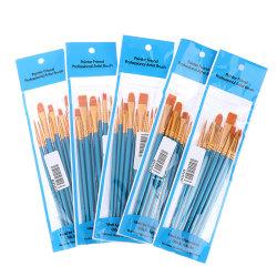 10Pcs Acrylic Watercolor artists paint brush nylon multi-functio one size
