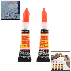 10pcs Super Glue Instant Quick-drying Cyanoacrylate Adhesive St one size