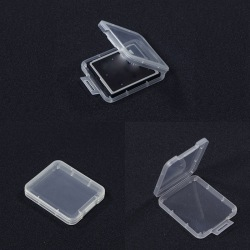 10PCS Transparent Standard CF Memory Card Case Holder Boxes Stor White one size