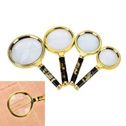 10X Gold Tone Metal Frame Dragon Handle Grip Magnifying Lens Gl qsl70