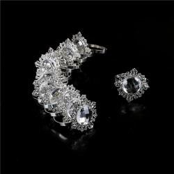 12pcs Silver Napkin Ring Serviette Holder Wedding Banquet Dinner 0 0