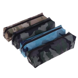 1Pc canvas pencil case camouflage for boy military school suppli Light green